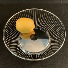 """Alessi 8"""" Stainless Steel Wire Fruit Bowl, Made In Italy, INOX 18/10"""