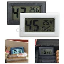 Digital LCD Humidor Hygrometer Thermometer Temperatur Zigarren Feuchtigkeit weiß