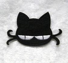 1 Écusson Brodé Thermocollant NEUF ( Patch ) - Chat Noir Black Cat ( B )