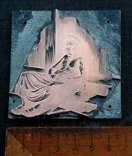 RUHEPAUSE ! Galvano Druckstock Kupferklischee Druckplatte copper plate printing