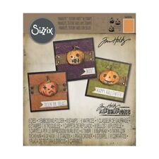 Tim Holtz® Sizzix® Alterations™ Framelits™ Texture Fades™ with Stamps, Jack-O'-L