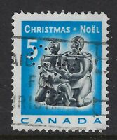 Perfin C46-CW/C: 1968 5c Christmas Inuit Soapstone, 488-1 Canadian Westinghouse