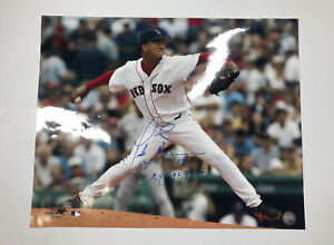 Boston Red Sox Pedro Martinez Signed Inscribed 16x20 Photo HOF and Cy Young