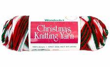 Vintage WonderArt Christmas Knitting Yarn Christmas #953 Acrylic 3 oz