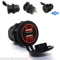 Ring Twin 12V 8 Amp Car Multisocket with USB Charging Socket RMS7
