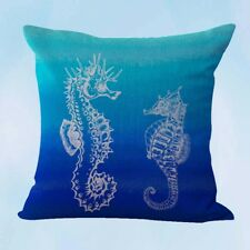 US Seller-couch pillow covers seahorse marine sealife ocean cushion cover