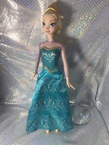 Disney Princess FROZEN ROYAL SISTERS Elsa 2013 doll Excellent Gold Shoes