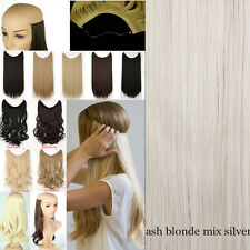 100% Premium Thick Invisible Wire Secret Hair Extensions Brown Black Grey US Pk2
