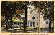 De Land Florida Catholic Church Parsonage Antique Postcard K58630