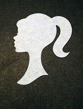 Scrapbooking - craft - card making - embellishments - Girl silhouette