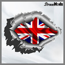RIPPED TORN METAL Car Sticker Union Jack British Flag Vinyl Decal JDM Bumper 4x4