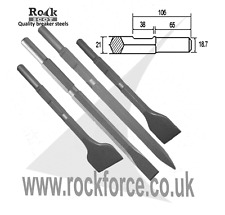 NEW 50 & 75mm wide Chisels Point & Chisel Kango 900/950 450mm long!