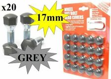 Mercedes C Class Wheel Nuts Covers 1993 on 17mm Grey