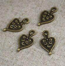 100 pcs Antique bronze charm ancient heart wholesale