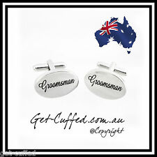 NEW Novelty Groomsman Cufflinks Wedding Unique Silver Cufflinks Men Shirt Tuxedo