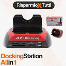 "DOCKING STATION HARD DISK COMBO SATA IDE 2,5"" 3,5"" LETTORE HD BOX CASE docking"