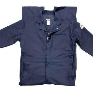 Bulwark Excel FR men's navy coverall NWOT Size 44 regular front zipper long slee