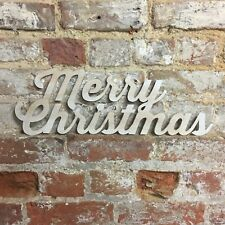 Rustic MERRY CHRISTMAS Lettering Letters Sign Metal Shabby Chic Decoration