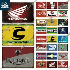 Plaque Décorative Murale Garage Moto Triumph Peugeot Honda Aprilia Cannondale