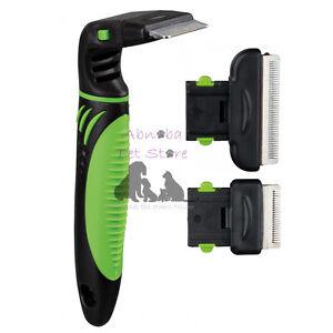 Carding Groomer Brush Comb detangle, thin s-steel blade replacement head dog cat
