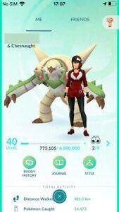 Pokemon Level 40 Go Starter Account 2 Million Stardust 20 Shiny High CP Pokemons