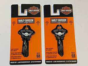 Harley Davidson Official SC1 68 Blank House Key 87425 Lot of 2
