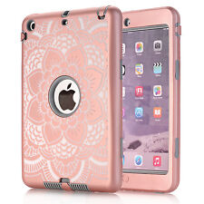 Shockproof Military Heavy Duty Rubber  Case Cover For Apple iPad Mini 1 2 3