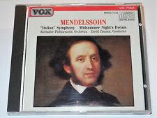 Mendelssohn Symphony No. 4 Italian A Midsummer Night's Dream David Zinman CD VG+