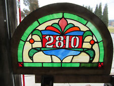 ~ ANTIQUE STAINED GLASS TRANSOM WINDOW ~ 30 X 20 ~ ADDRESS 2810 ~ SALVAGE