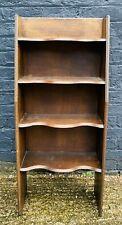 Dark Oak Spice Shelf Carved Design Curved Any Room Retro Good Condition