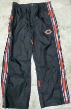 AWESOME CHICAGO BEARS WATER RESISTANT BLACK SIDE ZIP SWEATPANTS MEN'S SIZE XL