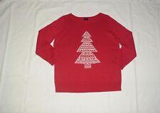 NEW $119 TALBOTS Red Fair Isle Christmas Tree Sweater Plus Sz X  ( 12W ~ 14,16 )