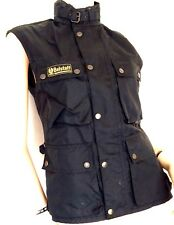 BELSTAFF CLASSIC Motorcycle Waxed Cotton Jacket Gilet (vente au détail £ 495)