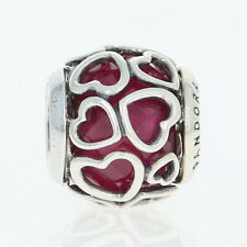 NEW Authentic Pandora Encased in Love Charm - Sterling Red Hearts 792036NCC