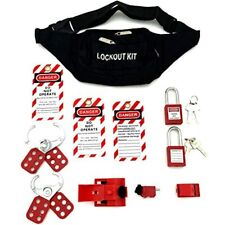 Lockout Tagout Kit Clamp On Circuit Breaker Lockout Group Hasps Tag Multi
