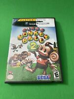 Super Monkey Ball 2 (Nintendo GameCube, 2002) Game, Case and Booklet