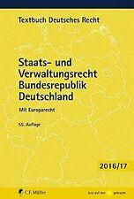 Staats- und Verwaltungsrecht Bundesrepublik Deutschland:... | Buch | Zustand gut