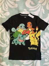 Old Navy Boys 6-7 SMALL Pokemon Short Sleeve T-Shirt Tee BLACK Pikachu #32118