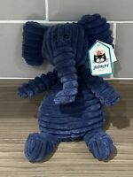 JellyCat Small Cordy Roy Navy Blue Elephant Plush Soft Toy with Tags 10 Inches