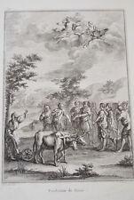GRAVURE XVIIIe GRAVELOT TARDIEU FONDATION DE ROME