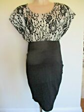 MAMALICIOUS MATERNITY BLACK LACE CONTRAST PARTY FORMAL WORK DRESS SIZE L 12-14