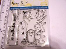 HONEY BEE NO ACT OF KINDNESS EVER WASTED BEAR BUNNY   Clear Stamps