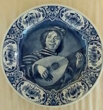 "13"" OUD Delft blue Wall Plate Charger after Frans Hals The Jester"