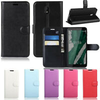 For Vodafone Nokia 1 Plus Premium PU Leather Wallet Case Flip Cover Fast Post