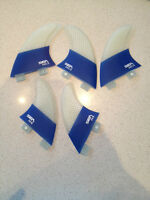 Compatiable FCS Surfboard fins 3 Template Quad/ Tri 5 fin set NEW with fin key