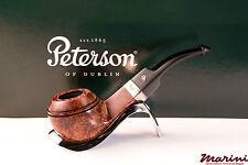 PIPA PIPE pfeife PETERSON OF DUBLIN WICKLOW 80S CURVA RADICA ORIGINALE SILVER