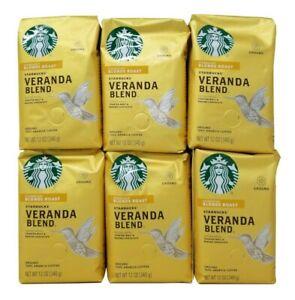 Starbucks Veranda Blonde Roast Ground Coffee 12 OZ Each - 6 Pack Exp June 2021