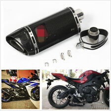 NEW Motorcycle Full Real Carbon Fiber Muffler Exhaust Pipe For R6 R1 CBR500 Z750