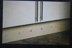 Enluce Set of 6 IP65 Square white LED plinth decking kitchen lights complete kit
