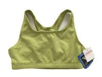 Galyan's Athletic CoolMax Racerback Sports Bra Light Green Women's Size M NWT